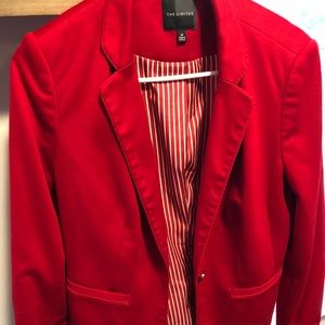 The Limited Jackets & Coats - The Limited Red and White Medium Tailored Jacket